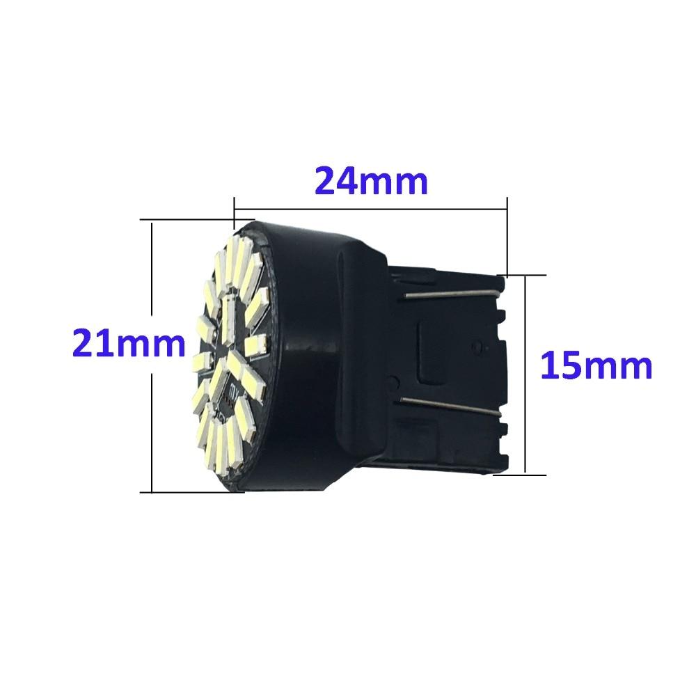 4X T20 7443 7440 W21 / 5W 4014 19 SMD Σφάλμα Canbus - Φώτα αυτοκινήτων - Φωτογραφία 2