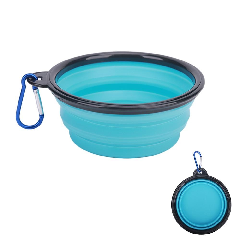 light blue silicone travel bowl