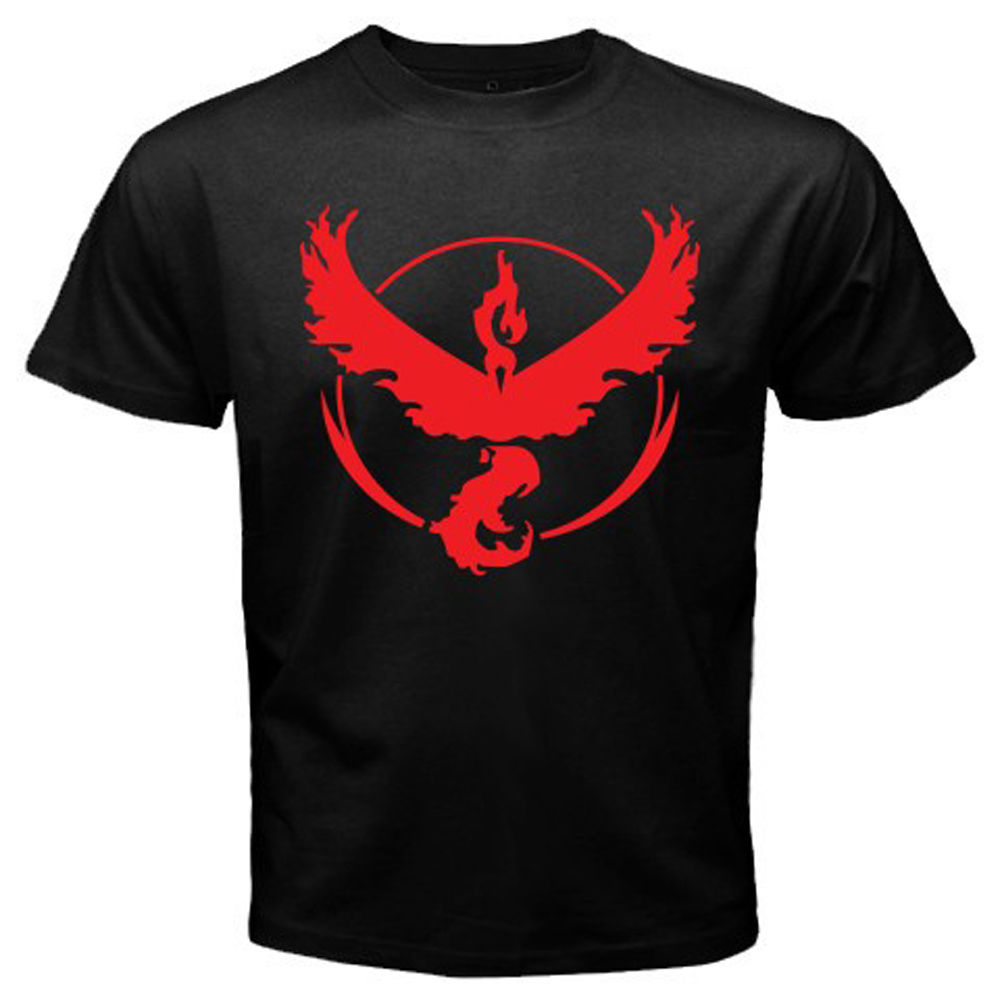 New Pokemon Go Team Valor Pokemon Trainer Mens Black T-Shirt Size S to 3XL