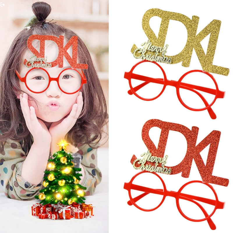Christmas Halloween Novelty Accessory Letter Child Glasses Costume Party Gift