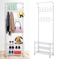 Coat Hat Clothes Stand Shoe Rack Hanger Hooks Shelf Storage Multi Function Coat Hanger Scarf Organizer Hangers Organizer