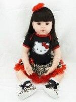 55cm Vinyl reborn baby dolls lifelike silicone