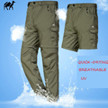 HOT pants mens quick-dry Waterproof Breathable-UV mountaineer Active trousers plus size:L-4XL Free shipping 3 colors