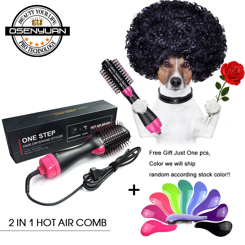 Stock!! One Step Dryer Hair Dryer Brush 2In1  1000W Negative Ion Hair Curler Straightener Electric Blow Dryer Comb Hair BrushStock!! One Step Dryer Hair Dryer Brush 2In1  1000W Negative Ion Hair Curler Straightener Electric Blow Dryer Comb Hair Brush