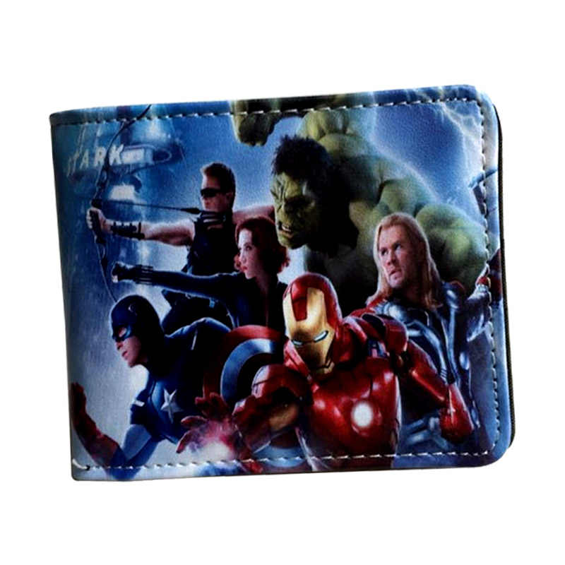 new arrival 2018 Avengers Wallet Marvel Captain America/Batman/Deadpool/Joker/Hulk slim wallet With Card Holder Coin Pocket men