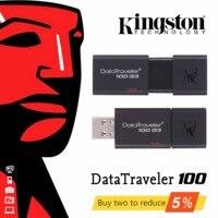Оригинальный USB 3,0 скорость DataTraveler kingston USB флеш-накопитель 16 ГБ 32 ГБ 64 ГБ 16 32 64 ГБ флеш-накопитель DT100G3