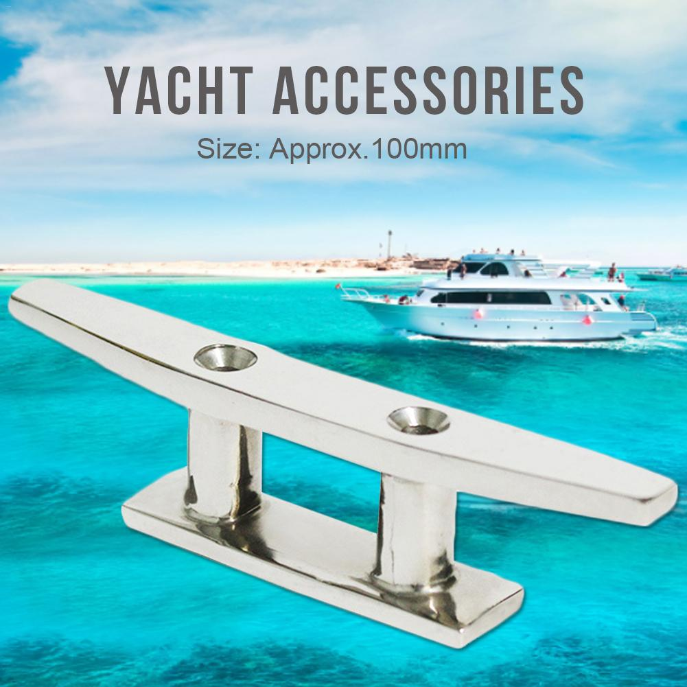 4Pack 6Inch Stainless Steel Open Base Cleat Boat Yacht Deck Line Dock Rope Cleat
