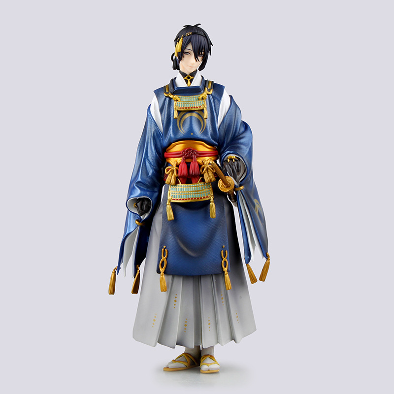 ФОТО Free Shipping Touken Ranbu Online Mikazuki Munechika 1/8 Scale Painted Figure Collectible Model Toy 23cm RETAIL BOX zy096