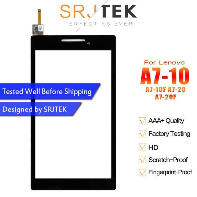 """SRJTEK 7 """"Màn Hình Cảm Ứng Đối Với Lenovo Tab 2 A7-10 A7-10F A7-20 A7-20F Màn Hình Cảm Ứng Cảm Biến Tablet PC Thay Thế Cho A7-10 digitizer"""