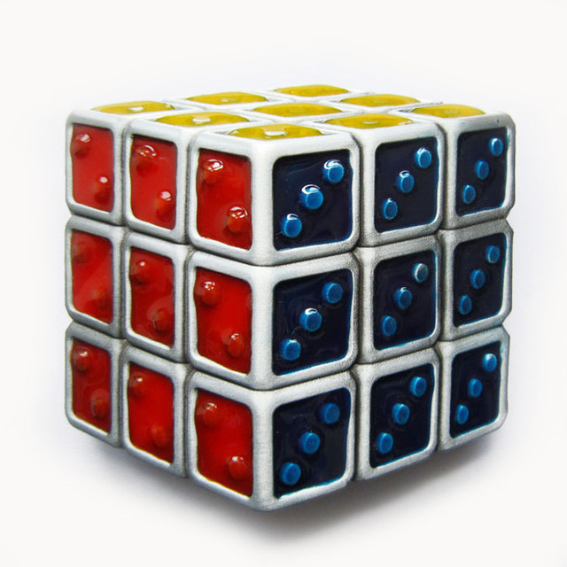 Retail Distribute Vintage Magic Dice Cube Belt Buckle BUCKLE-CS027 Free Shipping