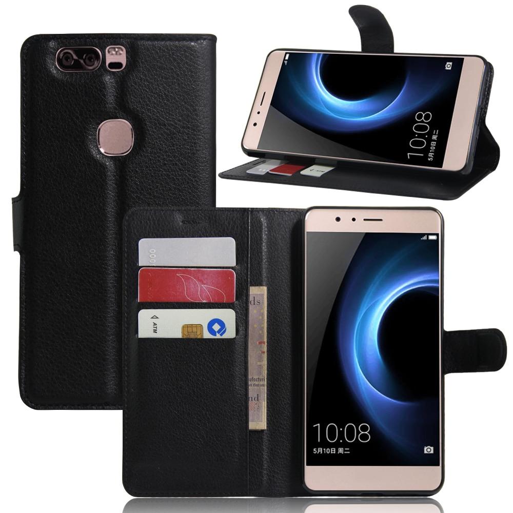 ツ)_/¯For Huawei Honor V8 Case Cover Funda Wallet PU Leather Phone