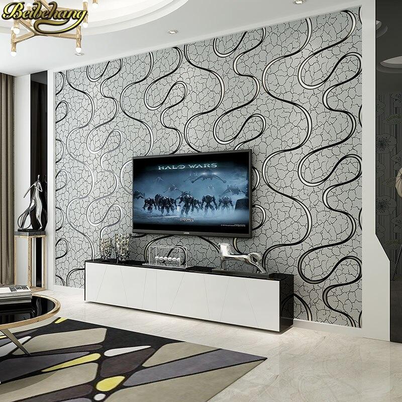 Beibehang courbe Simple fond papel de parede 3d moderne texturé rayé papier peint plaine solide mur papier pour salle de bain