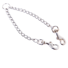 S M size High quality pet dog double hook chains Stainless Steel Double Dog Chain Pet Leash variety of small dogs and large