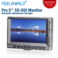Feelworld A5 5 inch Durable Aluminum Case On Camera Field Monitor 3G SDI HDMI HD 800x480 LCD Display Portable for Camera BNCC