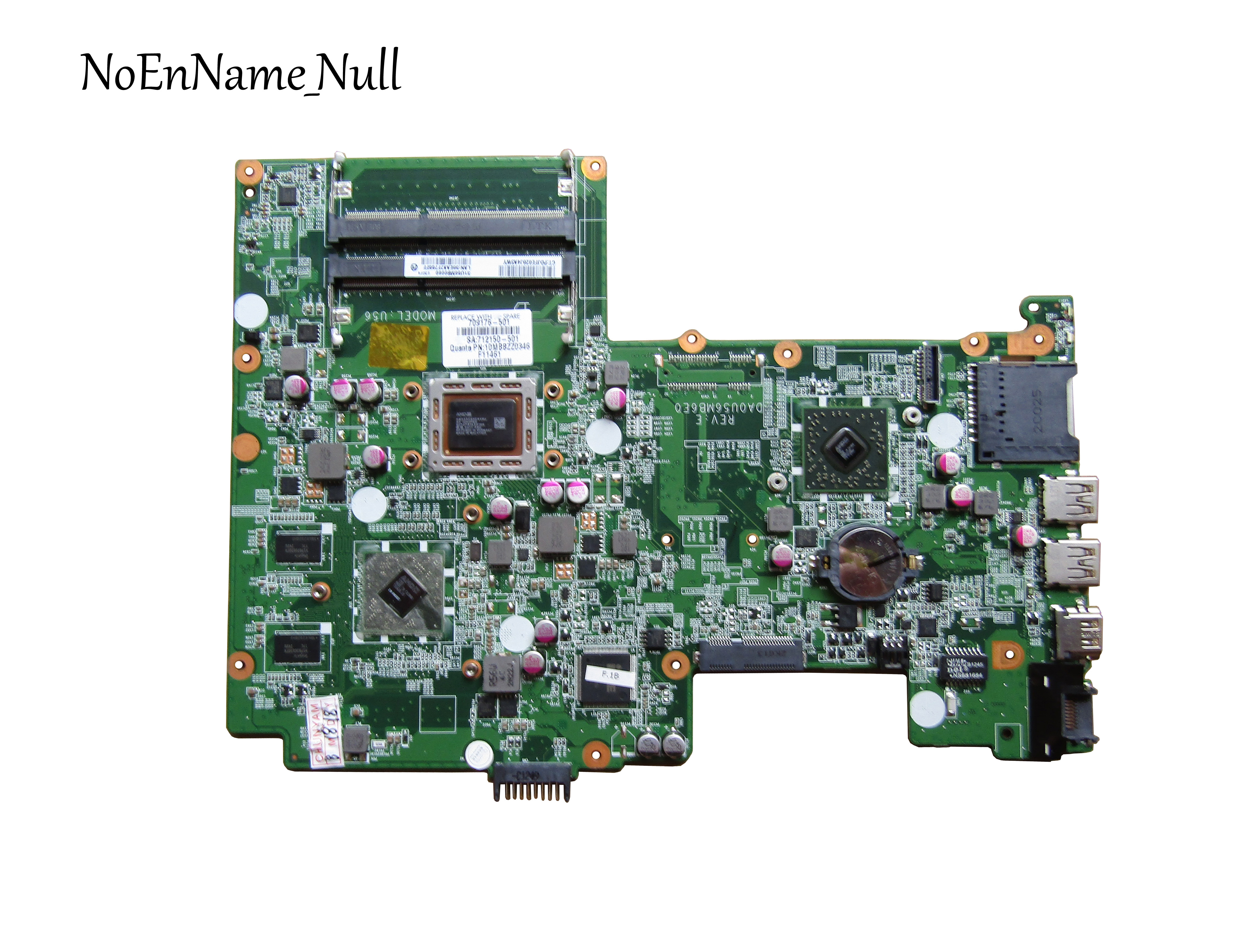 709176 001 DA0U56MB6E0 For HP Pavilion Sleekbook 15 laptop motherboard 709176 501 cpu A8 4555M 100% Tested 60 days warranty