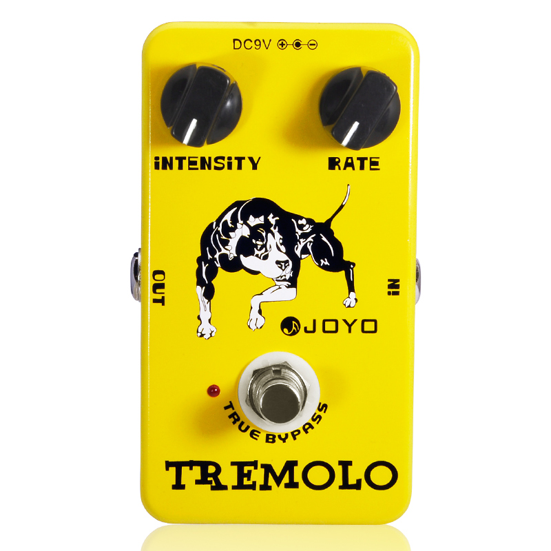 Купить с кэшбэком Joyo JF-09 Tremolo Guitar Pedal Tremolo Stompbox Of Classic Tube Amplifiers Intensity&rate knob Tone And Vibe Adjust Easily