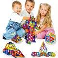 32-44 pcs enlighten bricks educacional brinquedo designer praça triângulo hexagonal magnética 3d diy blocos de construção crianças brinquedos para crianças