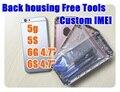 Пользовательские IMEI Полный шасси Для iphone 5 5g 5S 6 6 г 6 S плюс Вернуться корпуса металл сплава крышка батарейного отсека + Бесплатные Инструменты + отслеживания