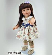 18 inch Vinyl Princess Girl Dolls Cute Realistic Girl Birthday Gift  Alexander Girl Doll