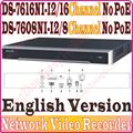 English Version Original NVR 8CH 16CH HD Without PoE DS-7616NI-I2  DS-7608NI-I2 ds 7608 ds 7616 ds-7608 ds-7616 DS-7616NI 7608NI