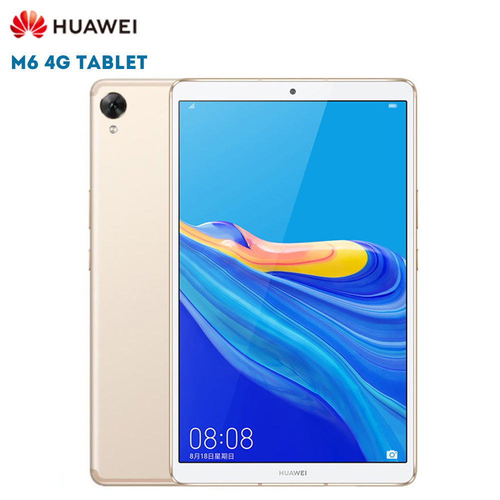 Original HUAWEI M6 4G Tablet PC 8.4 polegada Android 9.0 Câmera Hisilicon Kirin 980 Octa Núcleo 13.0MP