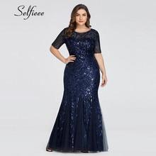 Robe Longue Elegant Mermaid O Neck Short Sleeve Summer Maxi Dress Bodycon Plus Size Woman Party Night Femme Vestidos