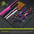 "6"" titanium pink hair scissors haircut shears professional barber kit for hair salon de coiffure thinning scissors hairdressing"
