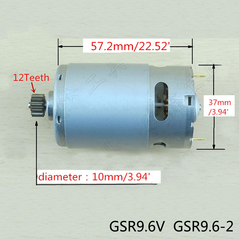 High-quality! 12 Teeth Replacement DC Motor 9.6V For BOSCH Cordless Drill Driver Electric hammer drill GSR9.6V GSR9.6-2 high quality electric hammer drill boutique stator case plastic shell for bosch gbh2 22 hammer accessories
