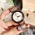 Top 2019 Marca de Luxo Diamante De Cristal Mão de Pulso Moda Relógio de Quartzo Para Mulheres Elegantes Senhoras Meninas Relógios de Pulso Feminino