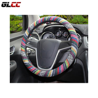 Flax National Style Steering Wheel Cover Universal Fit For 38 Cm Car Steering Wheel Cover Car