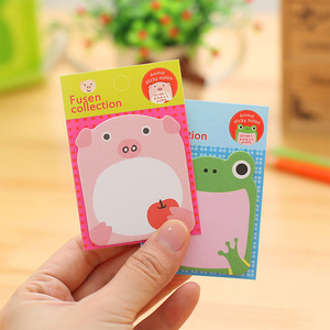 Image 5 - 48 pcs/Lot Animal sticky note Time schedule memo card Adhesive post sticker Frog rabbit Office material school supplies F547