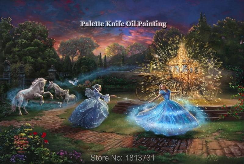 Thomas Kinkade Olieverfschilderijen Romantische Tendresse Giclee - Huisdecoratie