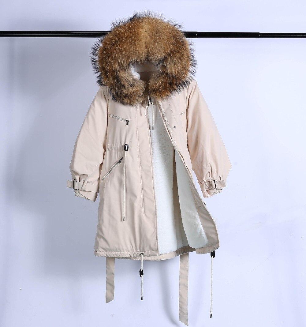 Large Natural Raccoon Fur Winter Jacket Women Hooded 19 Long Parkas For Female Thick Slim Down Winter Coat Women Waterproof 41