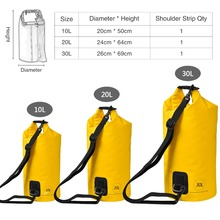 KastKing Durable 500D PVC 100% Waterproof Dry Bag Multifunctional Outdoor Portable Swimming Fishing Bag 10L 20L 30L