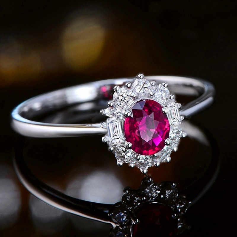 Новинка, модное женское кольцо с кристаллами, розовое, красное, роскошное, 925, серебряное, любовь, обручальное кольцо, обещающее, циркониевый камень, кольца на палец для женщин
