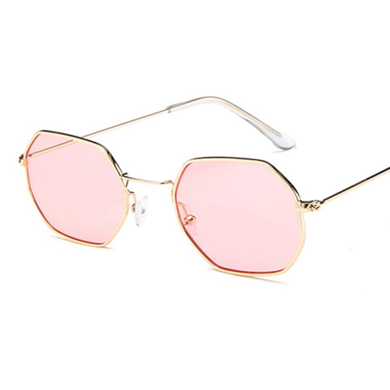 candy color pink red black white purple sunglasses transparent gold silver black frame vintage sun glasses Clear Lens female