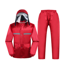 Rain Coat Women Waterproof Hiking Rainsuit Jackets Pants Sets Motorcycle Parka Ponchoing for Adults 6R219