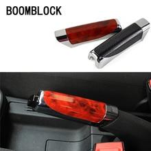 Car-Covers Hand-Brake Carbon-Fiber BOOMBLOCK for Audi A4 A3 A6 C6 B7 B8 B5 Q5 Seat Leon