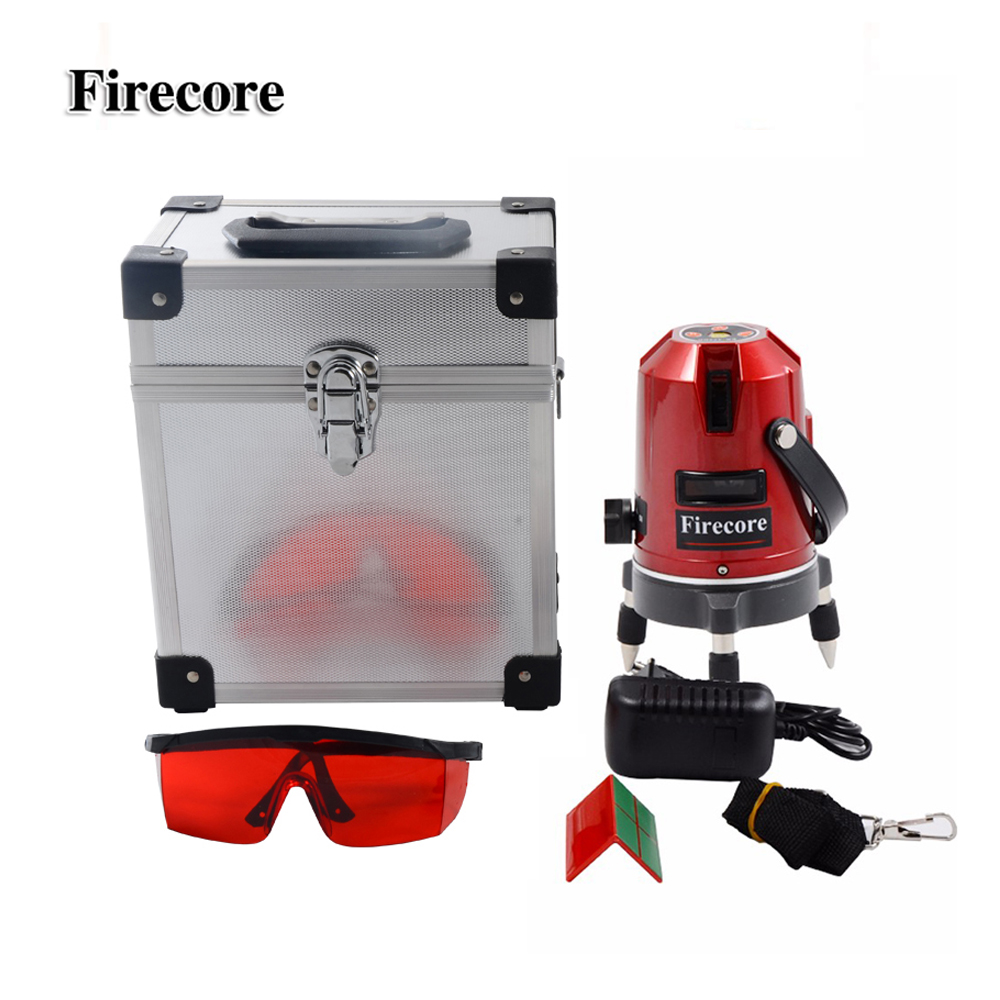 Firecore EK452DP 5 Lines 360 Rotary Laser Level Horizontal and Vertical Cross Red Beam Laser Line AC110-240V