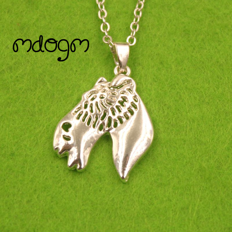 2018 Cute Wire Haired Fox Terrier Necklace Dog Animal Pendant Gold Silver Plated Jewelry For Women Male Female Ladies N156