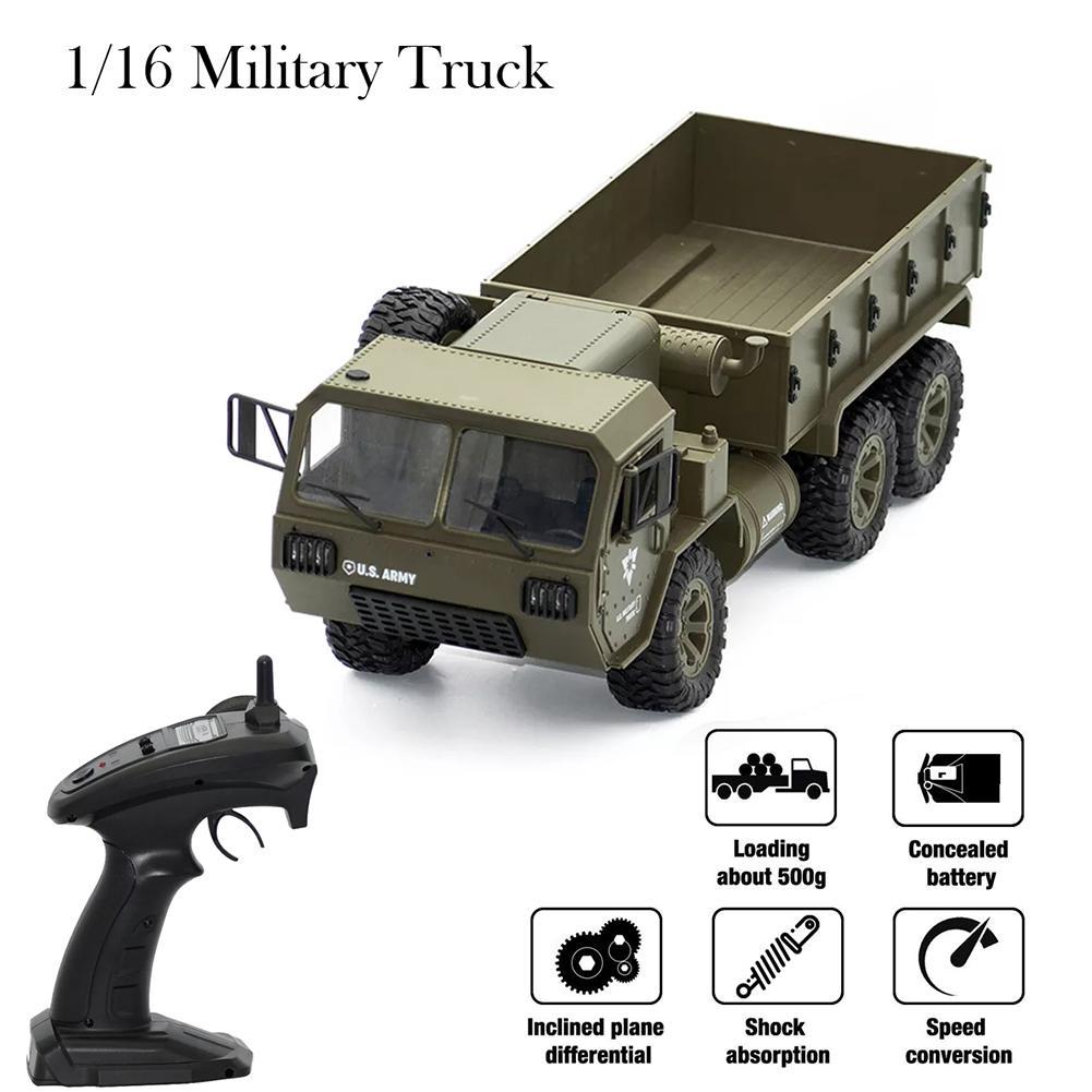 Préventes Fayee FY004A 1/16 2.4G 6WD 15 km/h Rc voiture contrôle US armée militaire camion RTR modèle véhicule extérieur jouets pour garçon jouets
