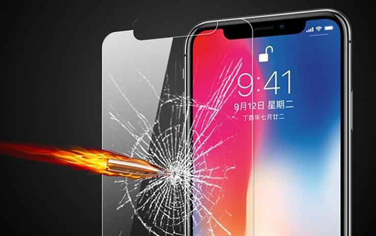 2pcs TOP 9H tempered glass For iPhone Xs Max XR 8 X 10 4 4s 5 5s 5c SE 6 6s plus 7 screen protector film case Phone Bag+ Cloth