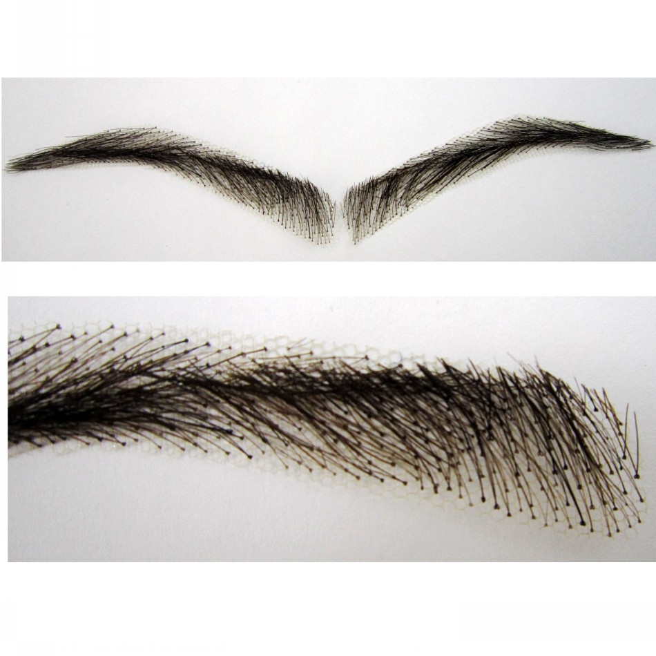 2018 Rushed Sobrancelha Eyebrows Factory /lace Eyebrow Real Easy To Wear Wig Brow ,human hair eye brow wig Free shipping tab 2