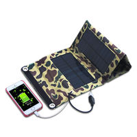 High Efficiency 4 Folded Como Solar Charger With Internal USB Port Sonal Panel Bag For IPhone
