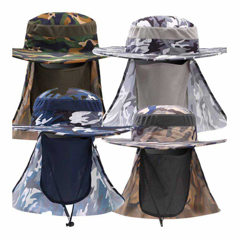 Face Neck UV Quick Dry Protection Fishing Caps Mesh Breathable Fishing Boating Hiking Anti Multifunction Sun Hats New in Fishing Caps from Sports Entertainment