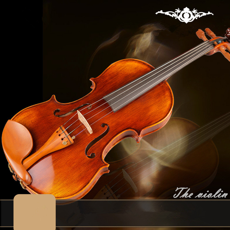 ZONAEL Beginner Violin Antique Maple violin 4/4 Violino 3/4 Handmade musical instrument & case,bow Dark Wood Pinus Bungeana brand new handmade colorful electric acoustic violin violino 4 4 violin bow case perfect sound