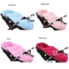 100% Newest stroller bag with down and fur collar to keep warm in winter baby footmuff,baby sleeping blanket inside is fleece