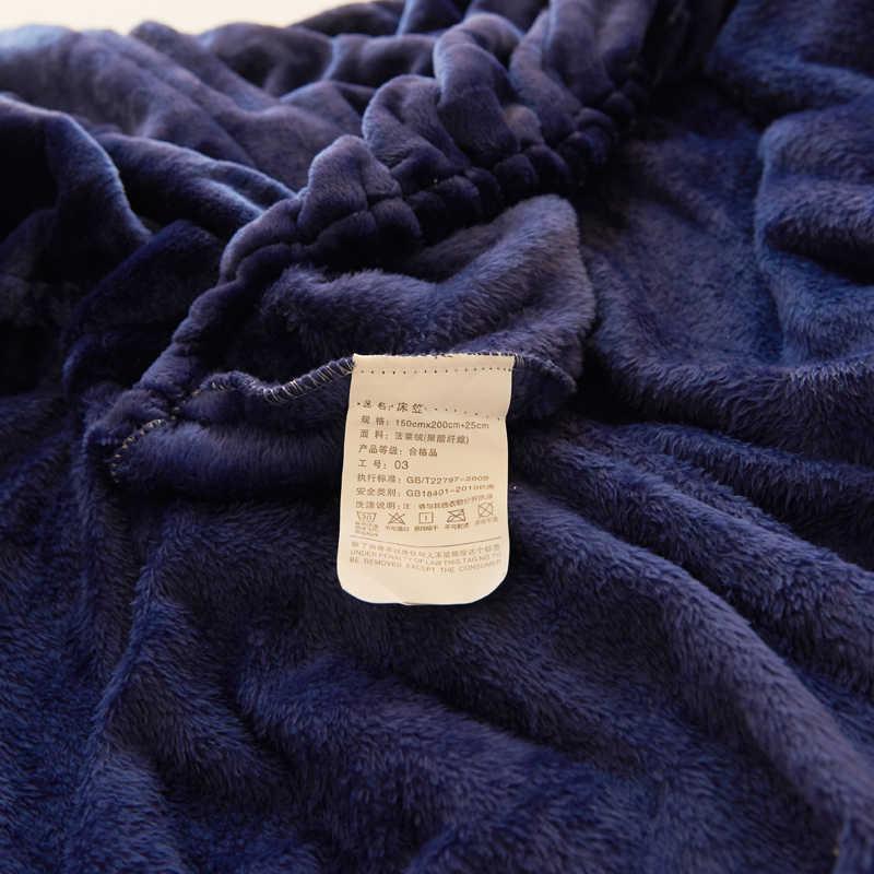 Темно-синяя однотонная фланелевая ткань, 3 шт. простыня с наволочкой, постельное белье, наматрасники, простыни на резинке