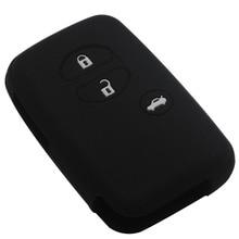 Car styling Silicone for Toyota Land Cruiser Camry Highlander Crown Prado Prius Car case flip key set jacket Cover case remote