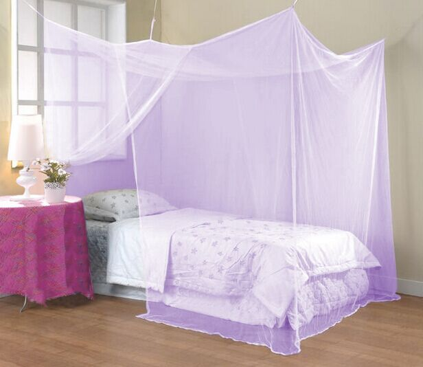 Elegant square polyester mosquito net insect home bed net for Rectangle bed canopy
